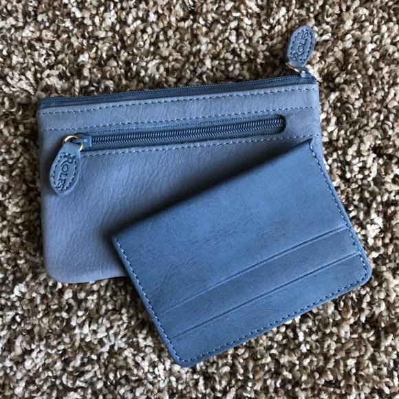 5b760538d Rolfs Bags | Light Blue Leather Coin Purse | Poshmark